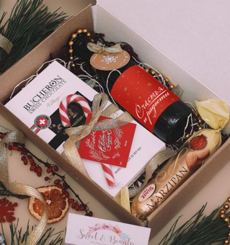 Подарочный набор с вином «Новогодний комплимент»