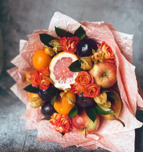 Букет с грейпфрутом