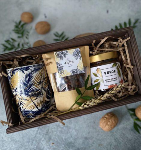Набор в ящике-пенале «Кофе карамель»